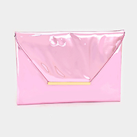 Enamel Envelope Clutch Bag