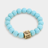 Bright Bold Happy Semi Precious Stretch Bracelet
