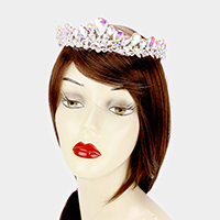 Teardrop Glass Stone Pageant Queen Tiara