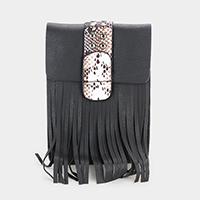 Leather Tassel Fringe Cross Bag