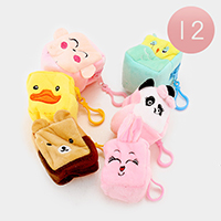 12 PCS Animals Square Coin Zipper Purses