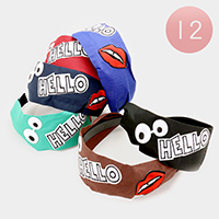 12PCS Pop Icon Patch Headband
