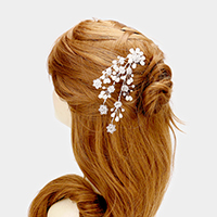 Transparent Bead Flower Pear Hair Comb