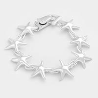 Metal Starfish Magnetic Bracelet