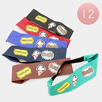 12PCS Pop Icon Patch Stretch Headband