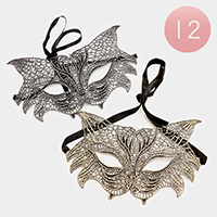 12 PCS - Soft Lace Masquerade Masks