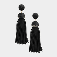 Thread Dome Tassel Earrings