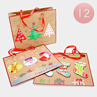 12 PCS Christmas Holiday Gift Bags