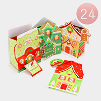 24 PCS Happy Holidays Gift Boxes