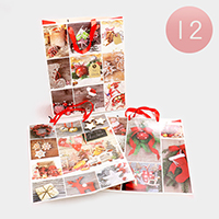 12 PCS Happy Holidays Gift Bags