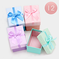12 PCS Pastel Hard Jewelry Bow Deco Gift Boxes