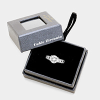 Round Cut Cubic Zirconia Ring