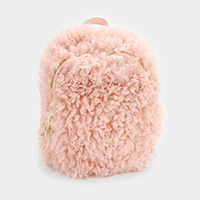 Faux Fur Backpack Bag