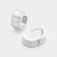 Metal Huggie Stainless Steel Earrings