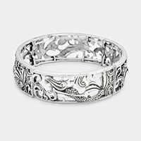 Filigree Mermaid Metal Stretch Bracelet