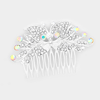 Crystal Rhinestone Butterfly Hair Comb