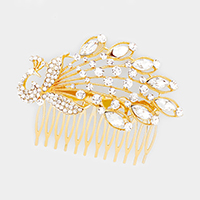 Crystal Rhinestone Peacock Hair Comb