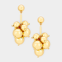 Metal Ball Bead Cluster Vine Earrings