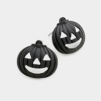 Metal Pumpkin Stud Earrings