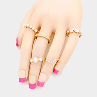 5PCS Mixed Metal Rings