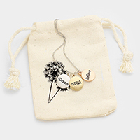 Dream Wish Believe _ Triple Disc Necklace Gift Bag Set