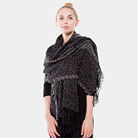 Elegant Fringes Rectangle Scarf