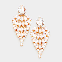 Cubic Zirconia Marquise Evening Earrings
