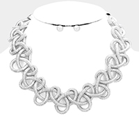 Twisted Cord Collar Bib Necklace