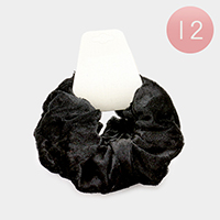 12 PCS Solid Velvet Scrunchie Hair Bands