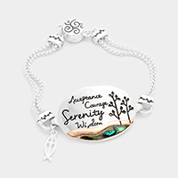 Serenity Prayer Ichthus Cross Charm Magnetic Bracelet