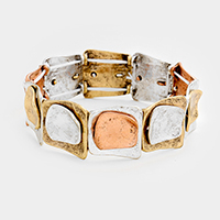 Rectangular Metal Stretch Bracelet