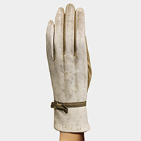 Thermal Bow Deco Touch Gloves