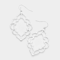 Cut Out Metal Dangle Earrings