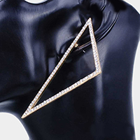 Oversized Crystal Rhinestone Pave Triangle Hoop Earrings