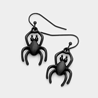 Rhinestone Metal Spider Dangle Earrings
