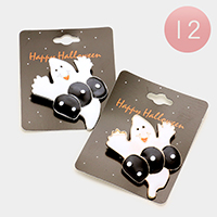 12 PCS Halloween Enamel Ghost Pin Brooches