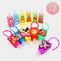 12 PCS Butterfly Bee Flower Silicone Hand Sanitizer Holder