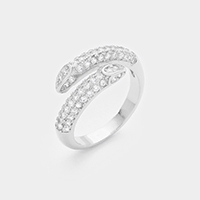 Cubic Zirconia Twisted Metal Ring