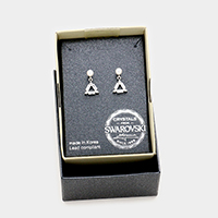 Swarovski Crystal Triangle Dangle Earrings