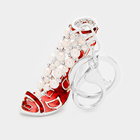 Pearl Cluster Evening Sandal Keychain