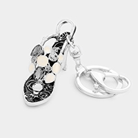 Stone Evening Sandal Keychain