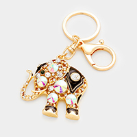 Crystal Elephant Key Chain