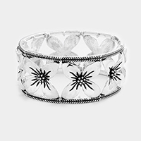 Flower Metal Stretch Bracelet