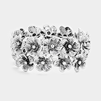 Metal Flower Stretch Bracelet