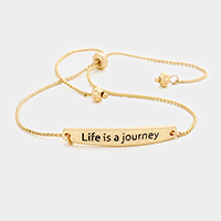 Life is a Journey Metal Cinch Bracelet