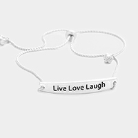 Live Love Laugh Metal Cinch Bracelet