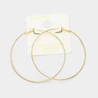 14K Gold Dipped Metal Hypoallergenic Hoop Earrings