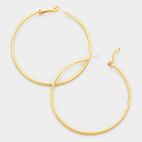 Oversized 14K Gold Filled Metal Hoop Earrings