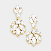 Glass Crystal Marquise Evening Earrings