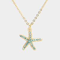 Beaded Starfish Pendant Necklace